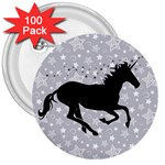 Unicorn on Starry Background 3  Button (100 pack)