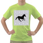 Unicorn on Starry Background Men s T-shirt (Green)