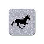 Unicorn on Starry Background Drink Coaster (Square)