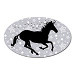 Unicorn on Starry Background Magnet (Oval)