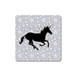 Unicorn on Starry Background Magnet (Square)
