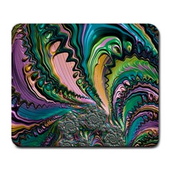 Special Fractal 02 Purple Large Mouse Pad (rectangle) by ImpressiveMoments