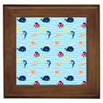 Fun Fish of the Ocean Framed Ceramic Tile