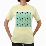 Fun Fish of the Ocean Women s T-shirt (Yellow)