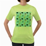 Fun Fish of the Ocean Women s T-shirt (Green)