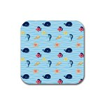 Fun Fish of the Ocean Drink Coaster (Square)