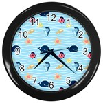 Fun Fish of the Ocean Wall Clock (Black)