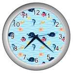 Fun Fish of the Ocean Wall Clock (Silver)