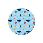 Fun Fish of the Ocean Drink Coasters 4 Pack (Round)