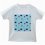 Fun Fish of the Ocean Kids T-shirt (White)