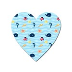 Fun Fish of the Ocean Magnet (Heart)