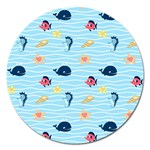 Fun Fish of the Ocean Magnet 5  (Round)