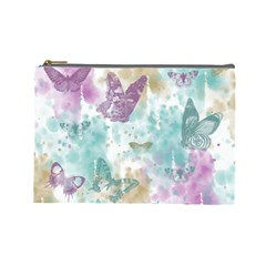Joy Butterflies Cosmetic Bag (large) by zenandchic