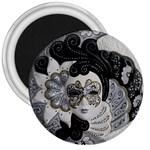 Venetian Mask 3  Button Magnet