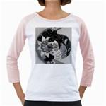 Venetian Mask Women s Long Cap Sleeve T-Shirt (White)