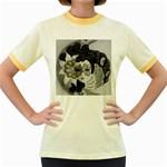 Venetian Mask Women s Ringer T-shirt (Colored)
