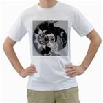 Venetian Mask Men s Two-sided T-shirt (White)