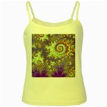 Sea Shell Spiral, Abstract Violet Cyan Stars Yellow Spaghetti Tank