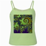 Sea Shell Spiral, Abstract Violet Cyan Stars Green Spaghetti Tank