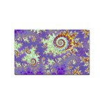 Sea Shell Spiral, Abstract Violet Cyan Stars Sticker (Rectangle)