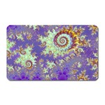 Sea Shell Spiral, Abstract Violet Cyan Stars Magnet (Rectangular)