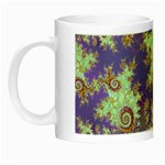 Sea Shell Spiral, Abstract Violet Cyan Stars Glow in the Dark Mug