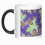 Sea Shell Spiral, Abstract Violet Cyan Stars Morph Mug