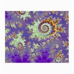 Sea Shell Spiral, Abstract Violet Cyan Stars Glasses Cloth (Small)