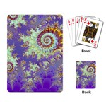 Sea Shell Spiral, Abstract Violet Cyan Stars Playing Cards Single Design