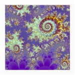 Sea Shell Spiral, Abstract Violet Cyan Stars Glasses Cloth (Medium, Two Sided)