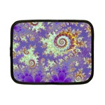 Sea Shell Spiral, Abstract Violet Cyan Stars Netbook Sleeve (Small)