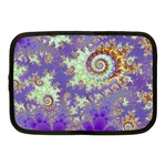 Sea Shell Spiral, Abstract Violet Cyan Stars Netbook Sleeve (Medium)