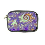 Sea Shell Spiral, Abstract Violet Cyan Stars Coin Purse