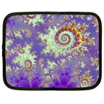 Sea Shell Spiral, Abstract Violet Cyan Stars Netbook Sleeve (XXL)