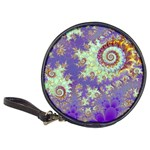 Sea Shell Spiral, Abstract Violet Cyan Stars CD Wallet