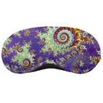 Sea Shell Spiral, Abstract Violet Cyan Stars Sleeping Mask