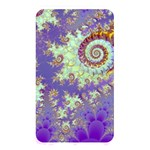 Sea Shell Spiral, Abstract Violet Cyan Stars Memory Card Reader (Rectangular)