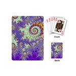 Sea Shell Spiral, Abstract Violet Cyan Stars Playing Cards (Mini)
