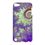 Sea Shell Spiral, Abstract Violet Cyan Stars Apple iPod Touch 5 Hardshell Case