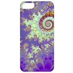 Sea Shell Spiral, Abstract Violet Cyan Stars Apple iPhone 5 Classic Hardshell Case