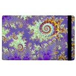 Sea Shell Spiral, Abstract Violet Cyan Stars Apple iPad 2 Flip Case