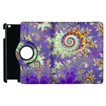 Sea Shell Spiral, Abstract Violet Cyan Stars Apple iPad 3/4 Flip 360 Case