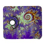 Sea Shell Spiral, Abstract Violet Cyan Stars Samsung Galaxy S  III Flip 360 Case