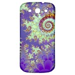 Sea Shell Spiral, Abstract Violet Cyan Stars Samsung Galaxy S3 S III Classic Hardshell Back Case