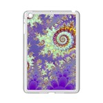 Sea Shell Spiral, Abstract Violet Cyan Stars Apple iPad Mini 2 Case (White)