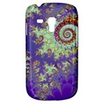 Sea Shell Spiral, Abstract Violet Cyan Stars Samsung Galaxy S3 MINI I8190 Hardshell Case