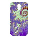 Sea Shell Spiral, Abstract Violet Cyan Stars Samsung Galaxy S4 I9500/I9505 Hardshell Case