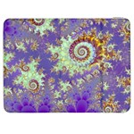 Sea Shell Spiral, Abstract Violet Cyan Stars Samsung Galaxy Tab 7  P1000 Flip Case