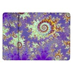 Sea Shell Spiral, Abstract Violet Cyan Stars Samsung Galaxy Tab 10.1  P7500 Flip Case