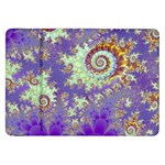 Sea Shell Spiral, Abstract Violet Cyan Stars Samsung Galaxy Tab 8.9  P7300 Flip Case